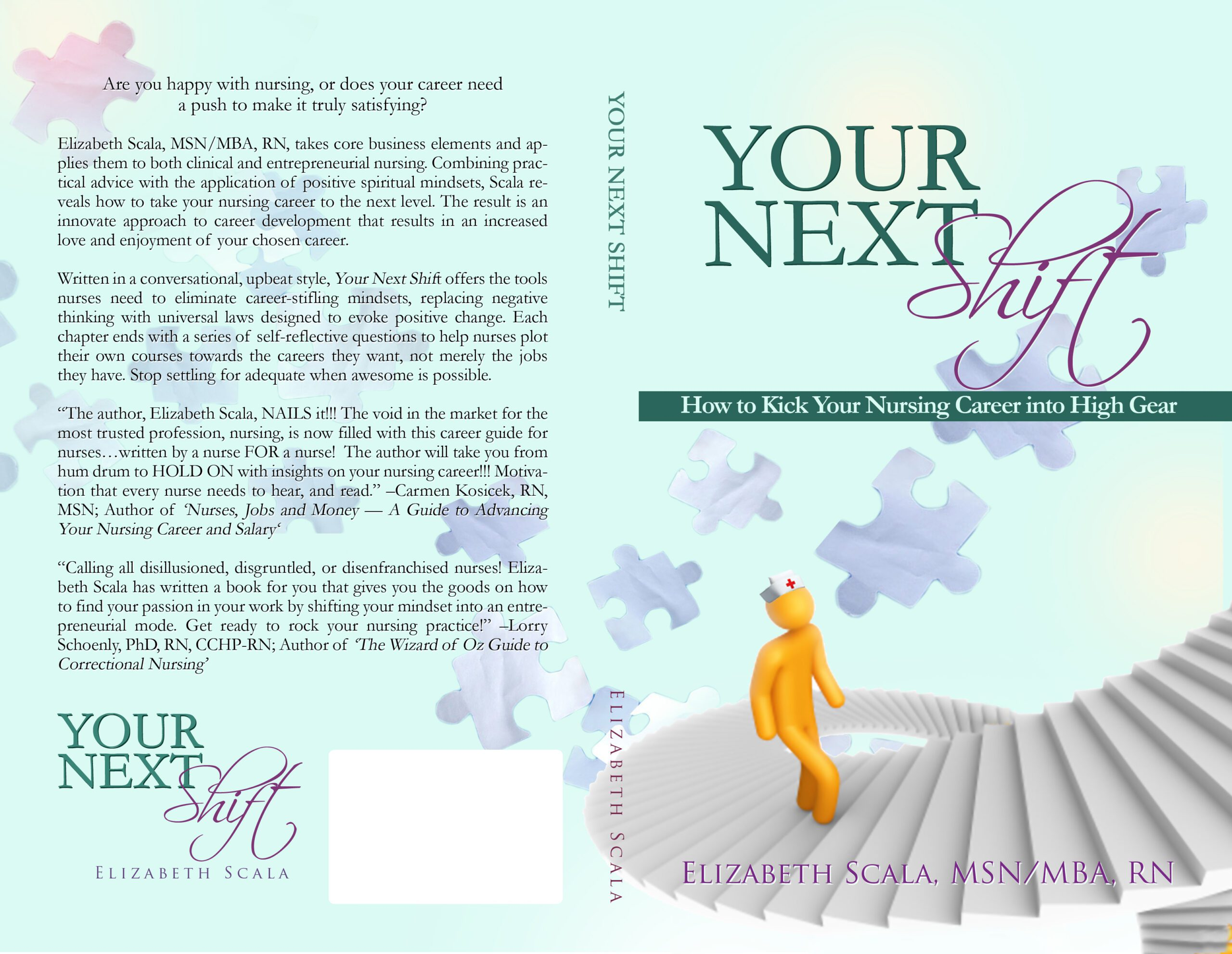 your next shift the book elizabeth scala msn mba rn the back cover image